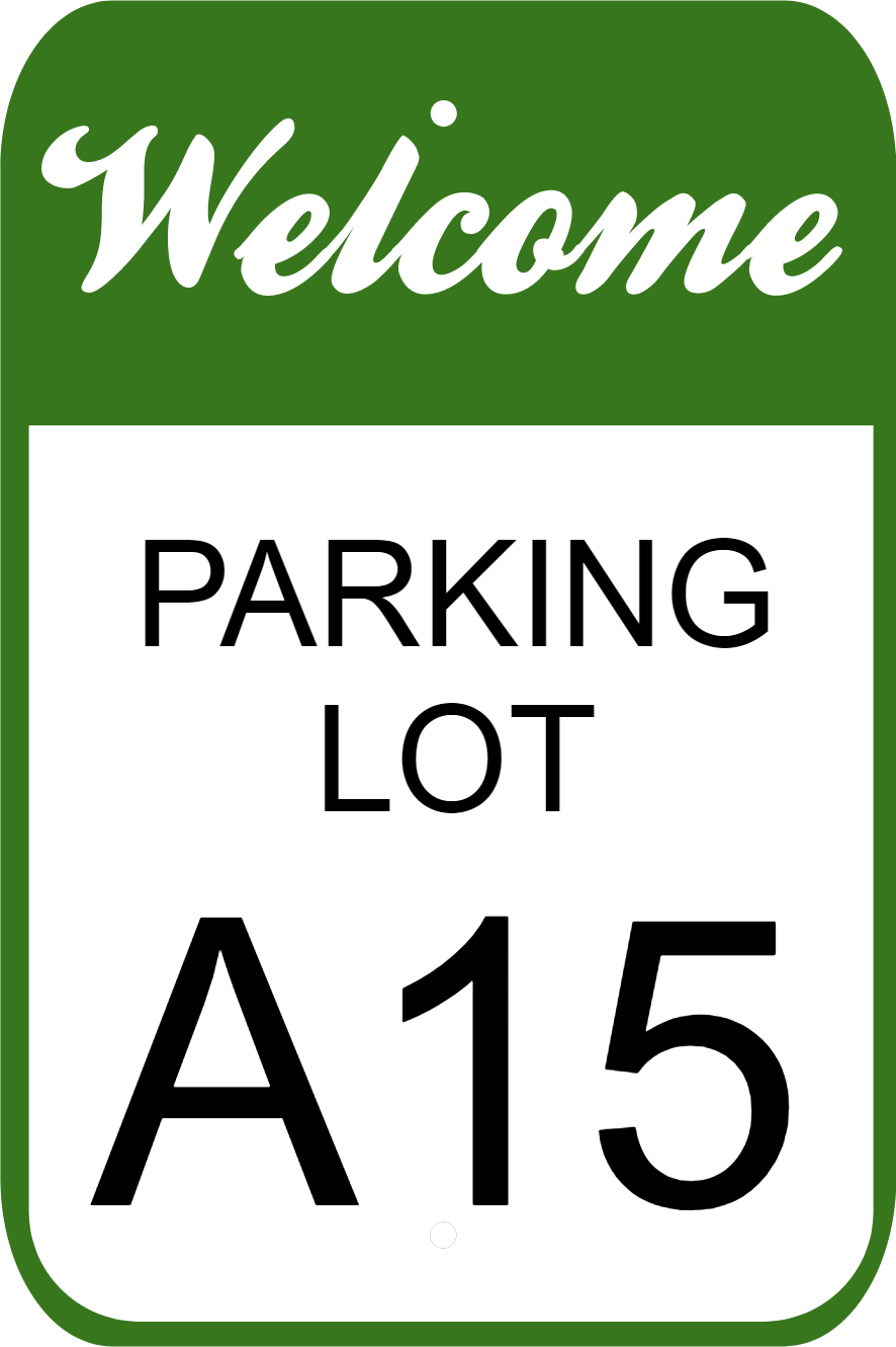 "Welcome Parking Lot Letter Sign | 18"" x 12"""
