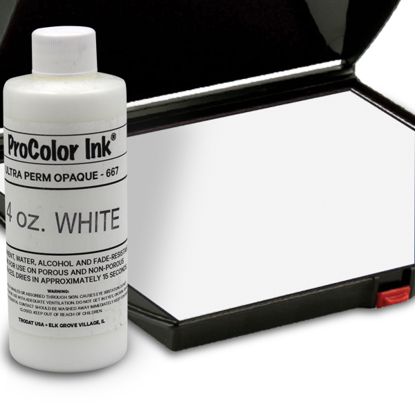 White 4oz SuperMarking Ink w/ Large Pad
