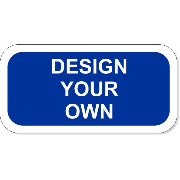 "White Border Add-On Aluminum Sign | 6"" x 12"""