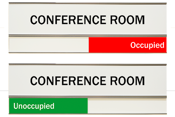White Conference Room Color Slider Signs 3