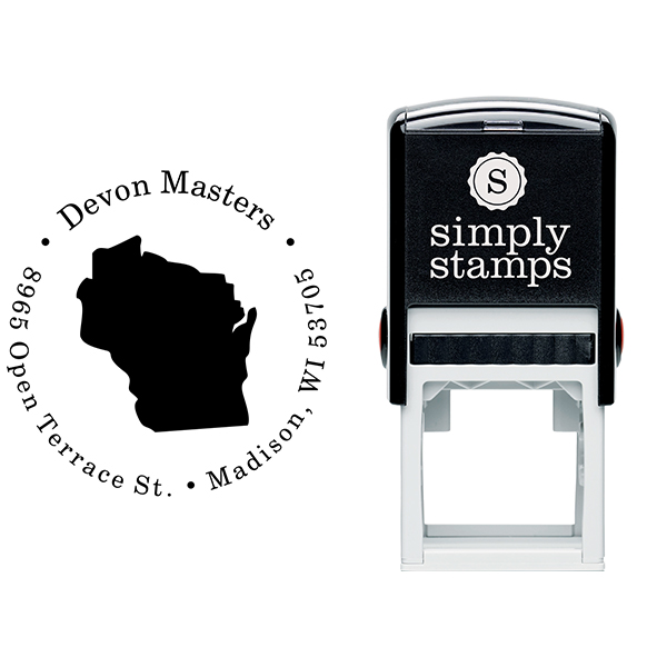 Wisconsin Round Address Stamp Body and Design