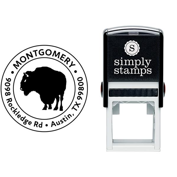 Buffalo Return Address Stamp Body and Design