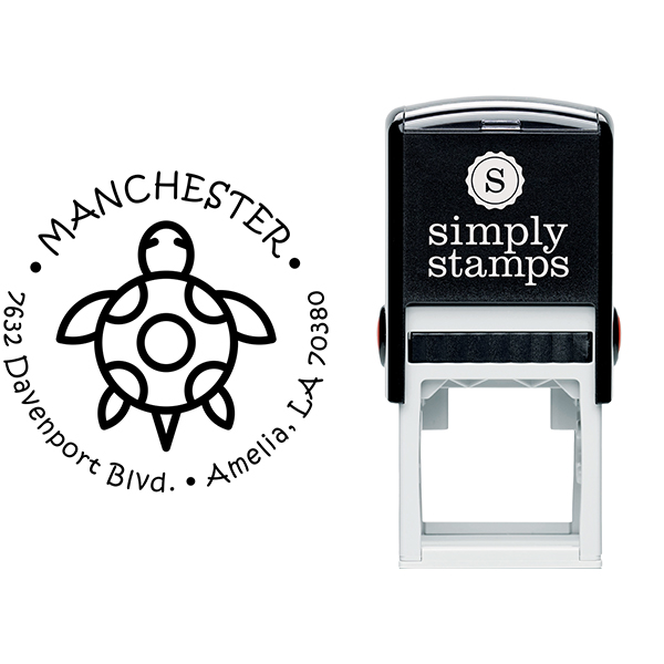 Turtle Return Address Stamp Body and Design