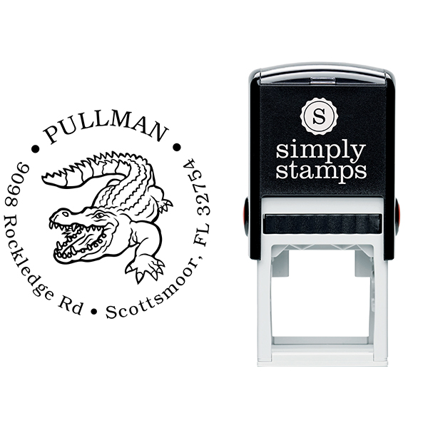 Alligator Return Address Stamp Body and Design