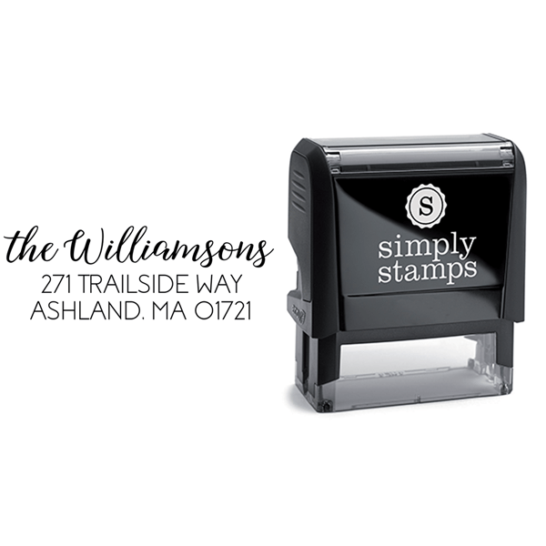 Williamson Script Return Address Stamp