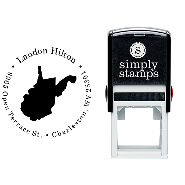 West Virginia Round Address Stamp Body and Design
