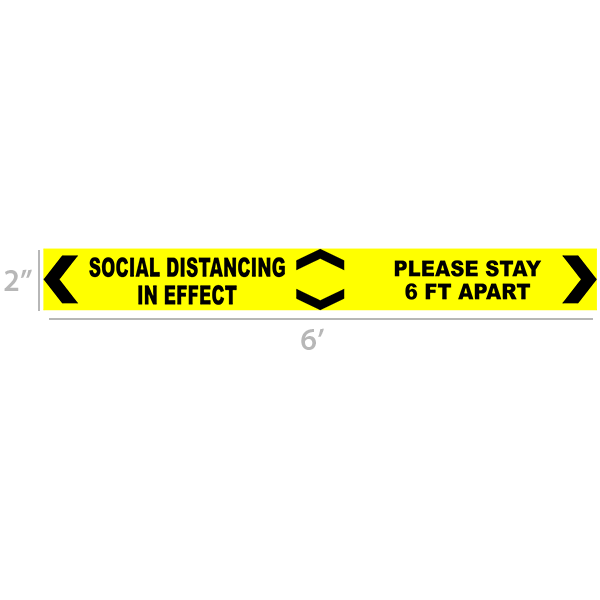 Social Distancing in effect 6 Ft Floor Decal