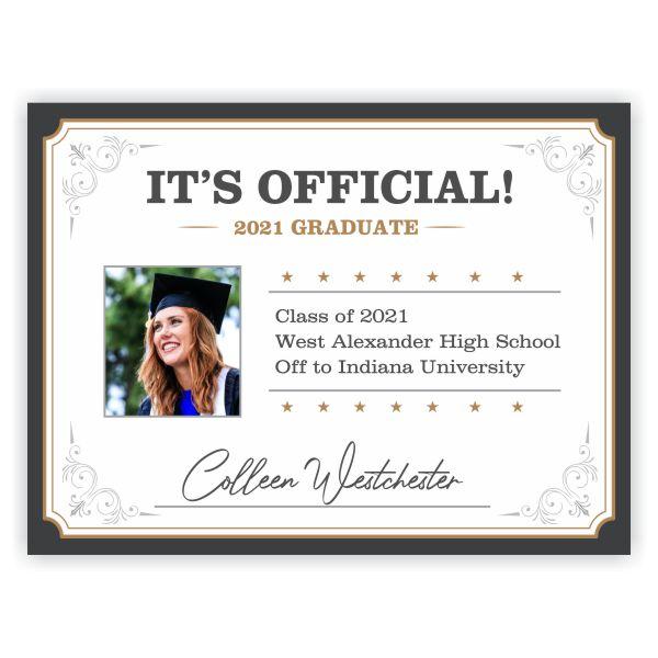 2021 Graduation Diploma Yard Sign