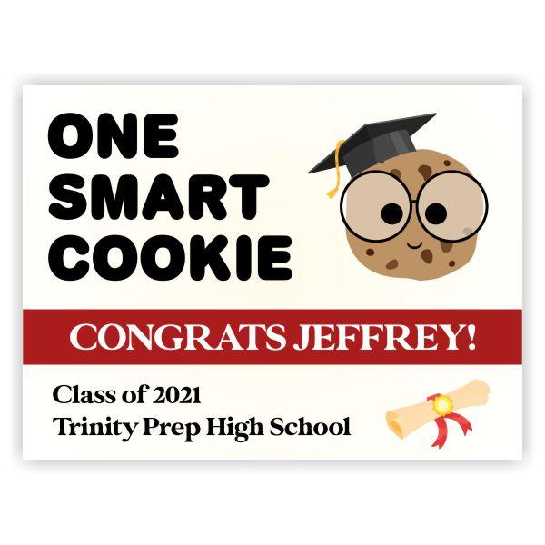 2021 Graduation Smart Cookie Yard Sign