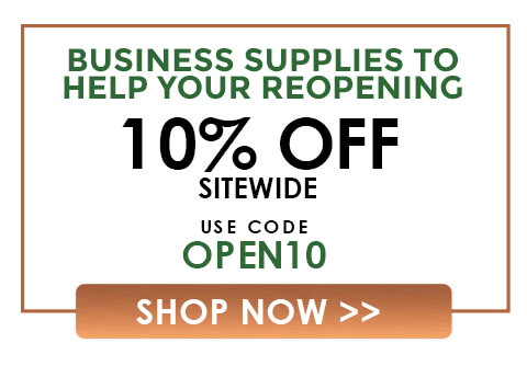 Business Supplies To Help Your Reopening 10% Off Sitewide Code: OPEN10