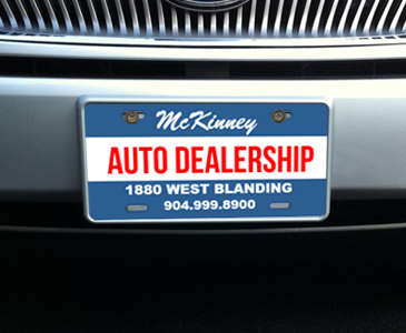 Custom Front License Plates