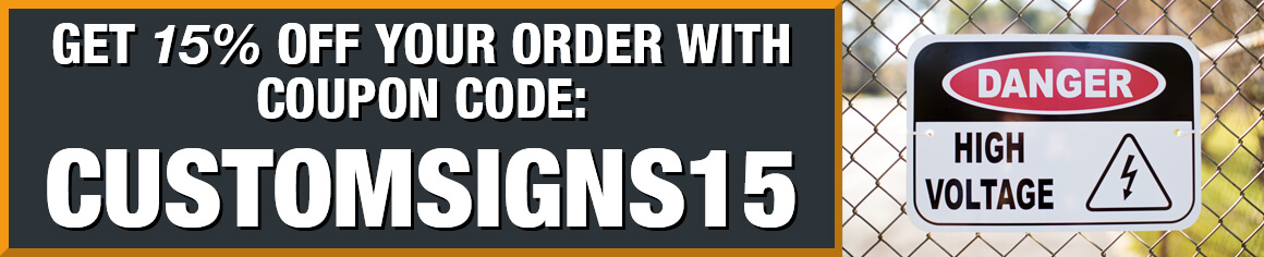 Save 15% with Coupon Code customsigns15, Danger High Voltage Sign