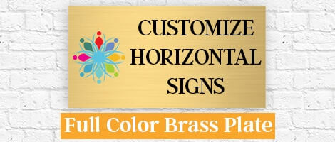 Color Brass Sign