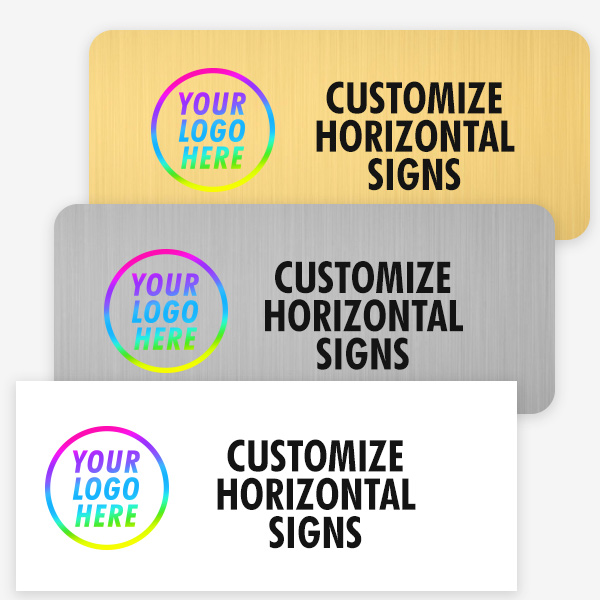 Examples of Color Horizontal Signs