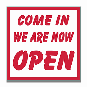 Engraved We Are Open Sign