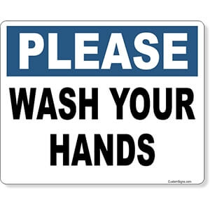 Please Wash Your Hands Color Sign