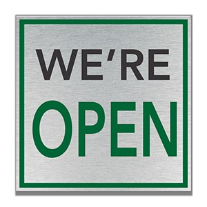We Are Open Color Sign