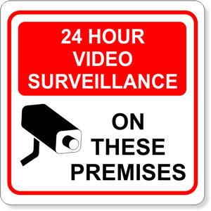 24 Hour Surveillance Vinyl Decal