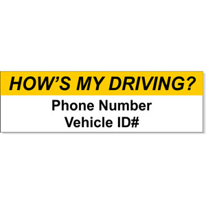 How's My Driving Bumper Sticker
