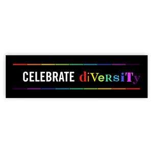 celebrate diversity bumper sticker