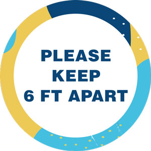 Please Keep 6ft Distance Floor Decal