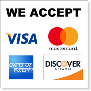Credit Cards Accepted Vinyl Decal