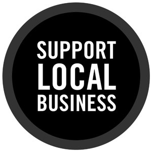 Support Local Business Window Decal