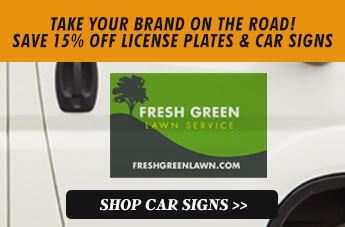 CREATE YOUR OWN CUSTOM CAR SIGNS, Shop Car Signs