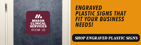 Create your own engraved plastic signs, Shop Engraved plastic Signs