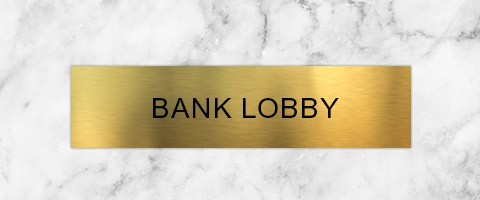 Engraved Brass Plate Signs