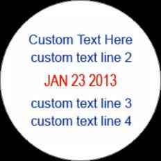 4 Line Custom Dater Stamp