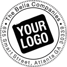 Round Custom Logo Address Stamp