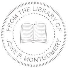 Round Open Book From the Library Of Embosser