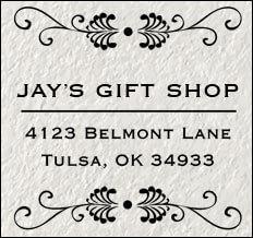 Square Address Stamp