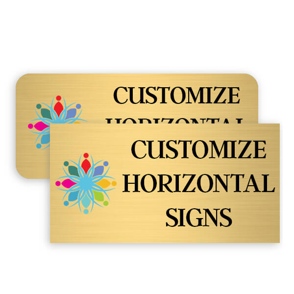 Brass Full Color Horizontal Signs