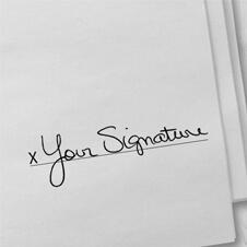 Personalized Signature Stamp