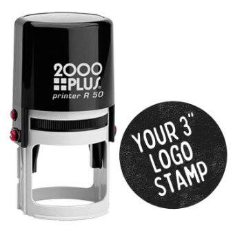 3 Inch Logo Stamp