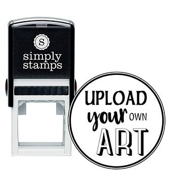 Round Border Upload Your Own Art Rubber Stamp