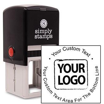Custom Rubber Round Logo Stamp