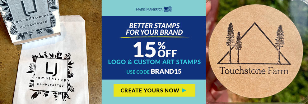 Better Stamps For Your Brand 15% Off Logo & Custom Art Stamps Code: BRAND15