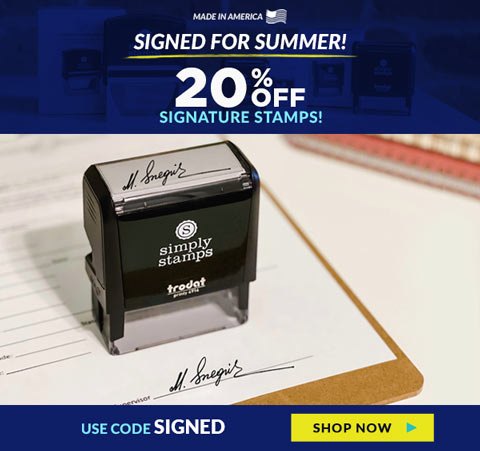 120% Off Signature Stamps! Code: SIGNED