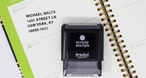 Custom Line Rubber Stamps