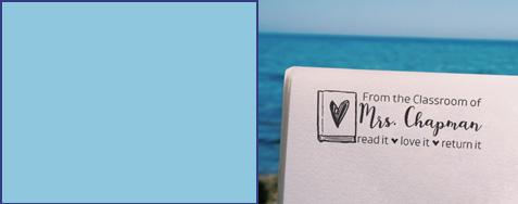 Stamp of the Week 7-26-21 Custom Stamp on Book
