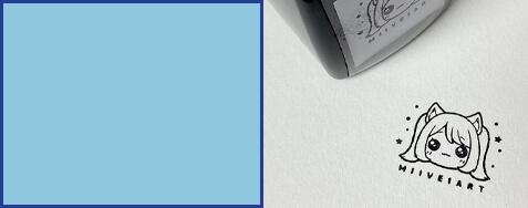 Custom Art Stamp Impression on Paper