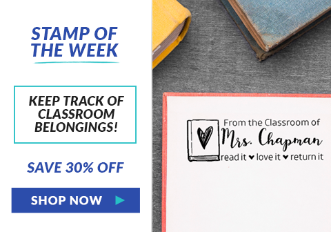 Love Books From The Classroom Of Teacher Stamp