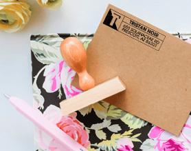 custom address stamp on envelope