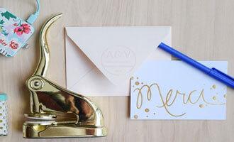 custom address embosser with envelope