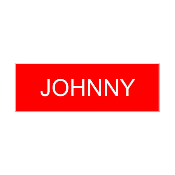 Johnny from Schitt's Creek Name Tag